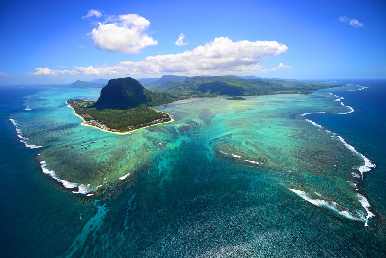 mauritius aerial view by south african travel photographer brandon barnard